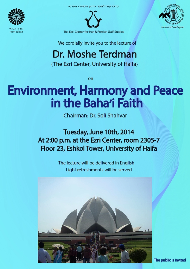 environment harmony and peace in the bahai faith